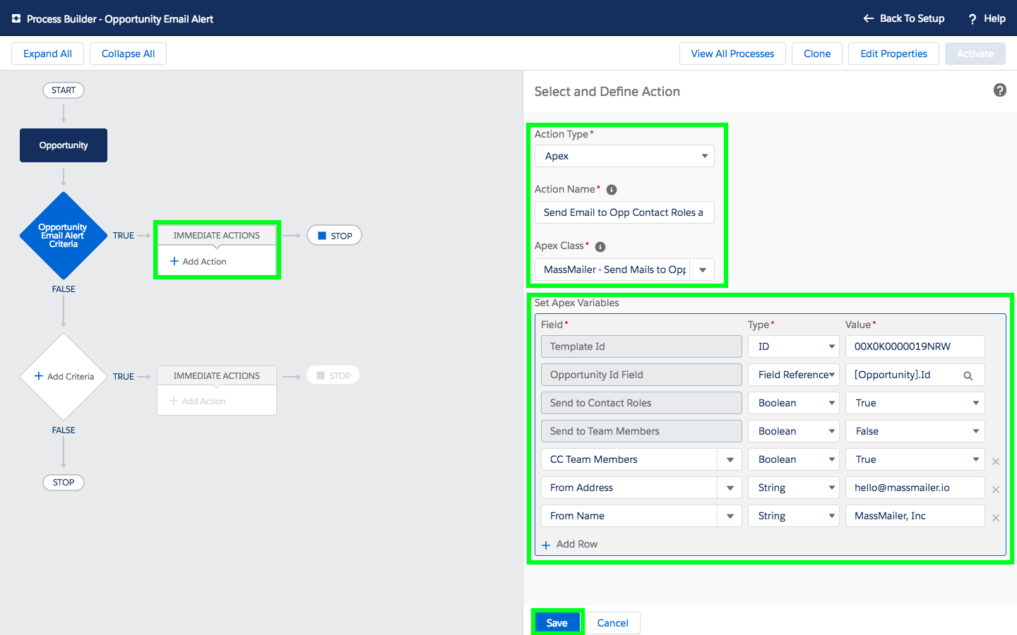 Send Workflow Alerts To Opportunity Roles in Salesforce