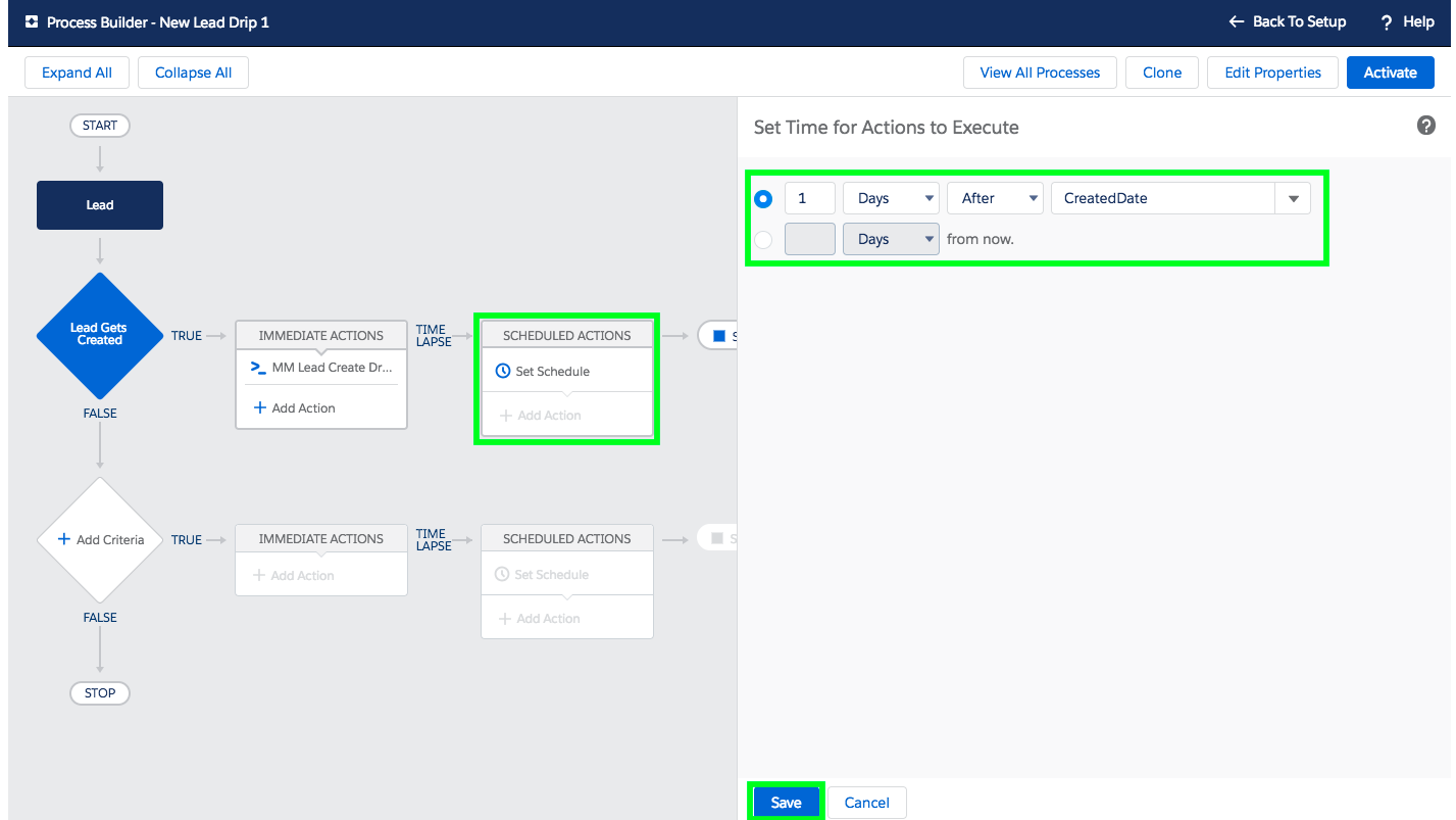 Setup Email Drip Campaign in Salesforce - Step 5-2